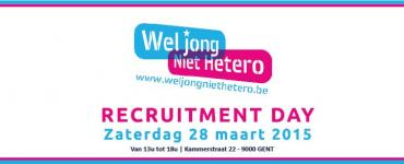Banner Wel Jong Niet Hetero - Recruitment Day, zaterdag 28 maart 2015